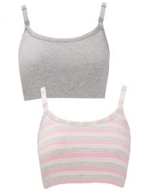 MOTHERCARE PINK STRIPED & GREY NURSING SLEEP BRA SIZES S-XL 8-20